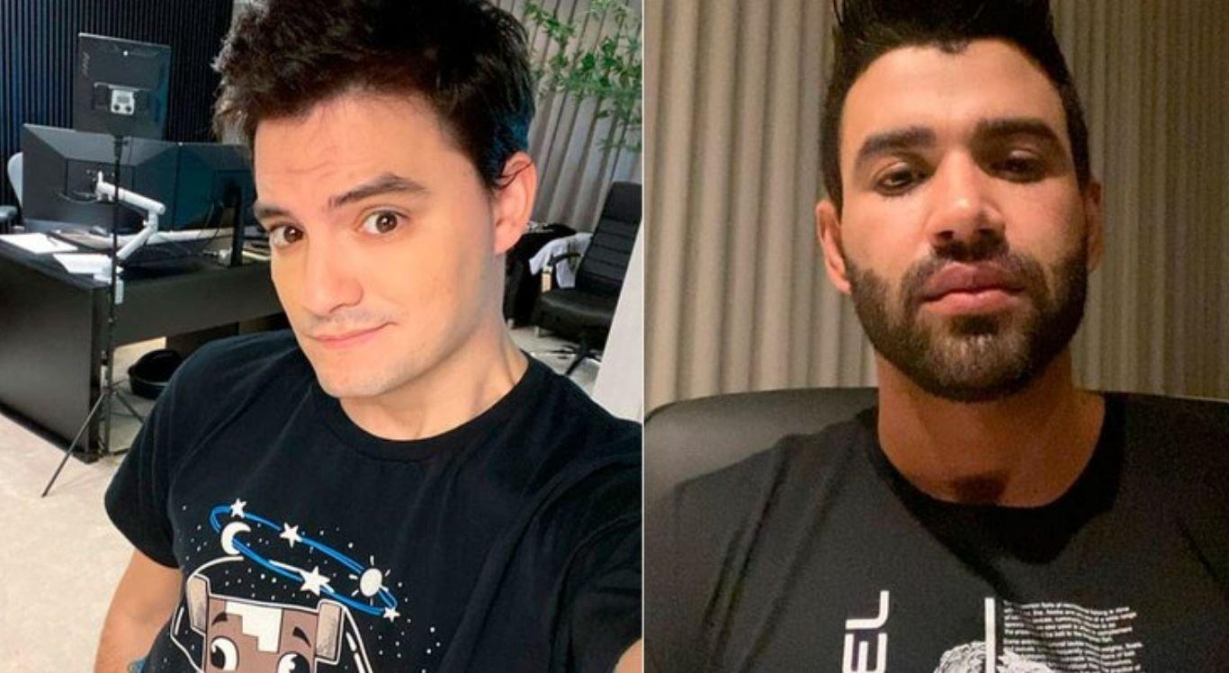 O youtuber usou as redes sociais para comparar o tratamento que web deu para Gusttavo Lima e Luísa Sonza após boatos de traição