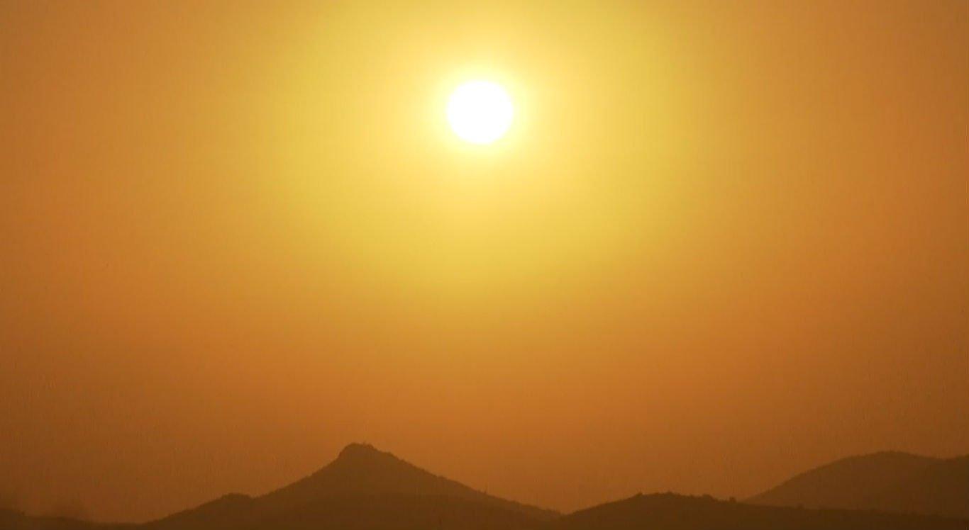 Sol forte com altas temperaturas