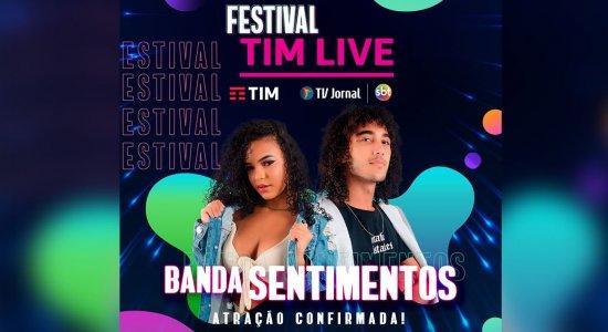 Sucesso nas redes, Banda Sentimentos se apresenta no Festival TIM LIVE da TV Jornal