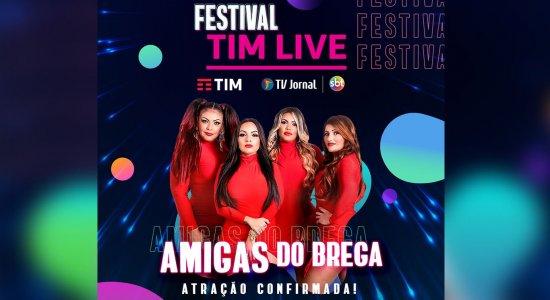 'Reafirma nossa ideologia de que a união faz a força', diz Palas Pinho, das Amigas do Brega, sobre participar do Festival TIM LIVE
