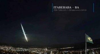 O meteoro na Bahia foi registrado por câmeras