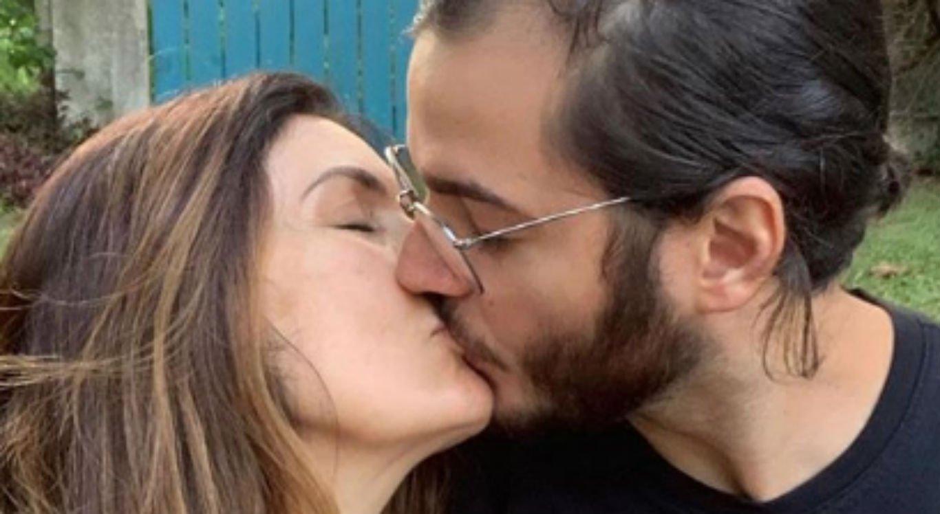 Fátima Bernardes e Túlio Gadêlha completaram três anos juntos