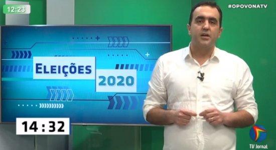 Marcelo Gomes durante sabatina do Povo na TV