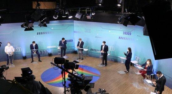 Confira os embates entre candidatos à Prefeitura do Recife em 2020 durante debate da TV Jornal