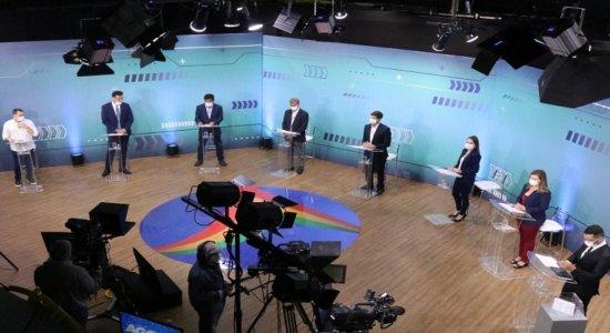 Veja como foram os embates entre candidatos à Prefeitura do Recife no debate da TV Jornal