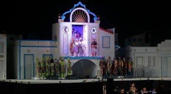 Tradicionalmente o Baile do Menino Deus é realizado na Praça do Marco Zero