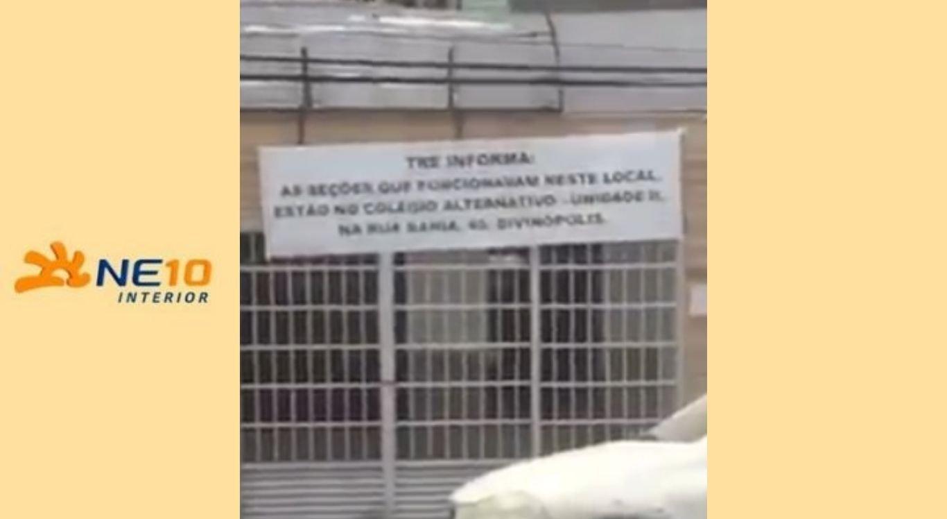 Novo local de votação fica em frente ao colégio Antenor Simões