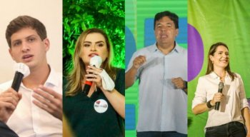 João Campos (PSB); Marília Arraes (PT); Mendonça Filho (DEM); Delegada Patrícia (Podemos)