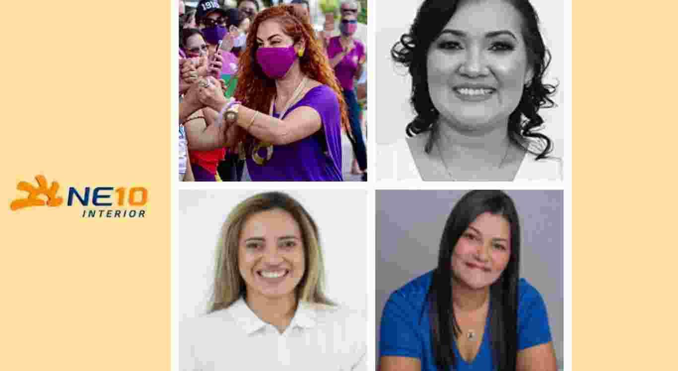 Quatro vereadoras eleitas em Caruaru