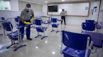 Escola se prepara para volta às aulas