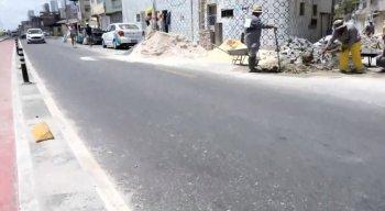 Na manhã desta terça-feira (17), um morador da localidade foi atingido por uma moto