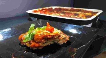 Lasanha de Berinjela: receita do chef Rivandro França