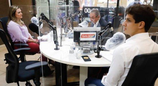 João Campos e Marília Arraes, candidatos à Prefeitura do Recife, avaliam presença em debate na Rádio Jornal