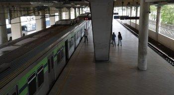 A linha sul está funcionando em mão dupla entre as estações Recife e Imbiribeira