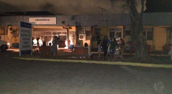 Incêndio atinge Hospital Geral de Areias, na Zona Oeste do Recife