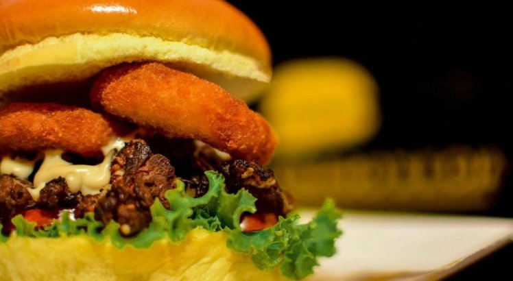 Hambúrguer artesanal do Grego's