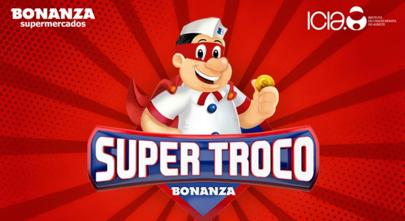 Bonanza Supermercados realiza campanha Super Troco
