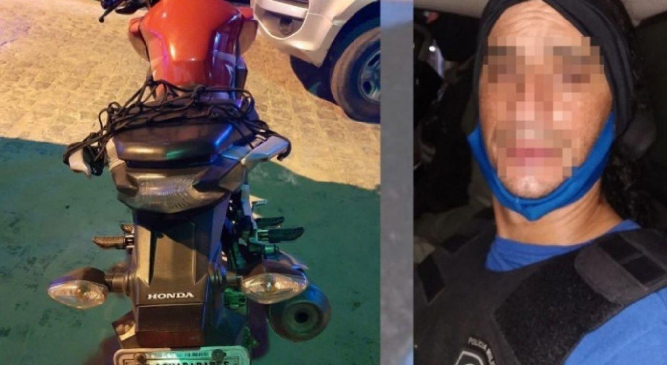 O homem confessou estar pilotando uma motocicleta usada na ação criminosa