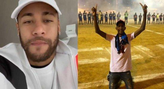 Ney Silva, a voz do futebol de várzea, recebe vídeo de Neymar: 'coração não aguenta'