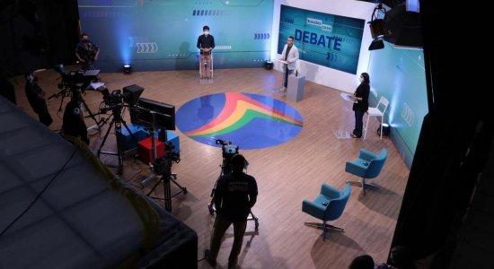 João Campos x Marília Arraes: ensaio do debate da TV Jornal com candidatos à Prefeitura do Recife no 2º turno