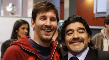 Lionel Messi e Diego Maradona: ídolos do futebol e da Seleção Argentina