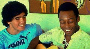 O dia em que Maradona e Pelé se conheceram pessoalmente, há 41 anos, no Rio de Janeiro