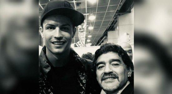 Cristiano Ronaldo se despede de Diego Maradona: 'inigualável'