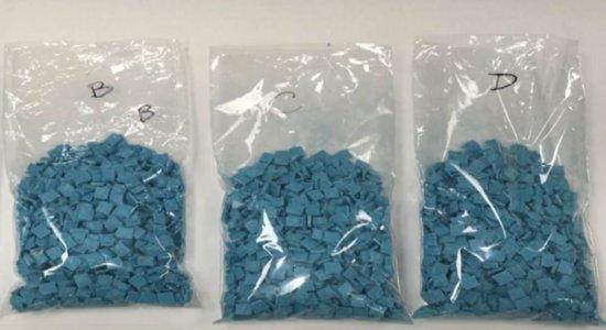 Polícia Federal apreende 3 mil comprimidos de ecstasy no Recife