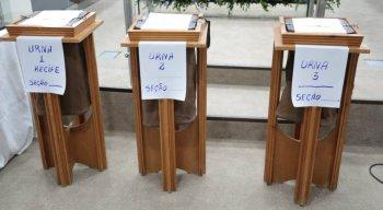 O sorteio das urnas eletrônicas foi realizado no Tribunal Regional Eleitoral (TRE-PE)