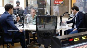 João Campos e Geraldo Julio foram entrevistados na Rádio Jornal