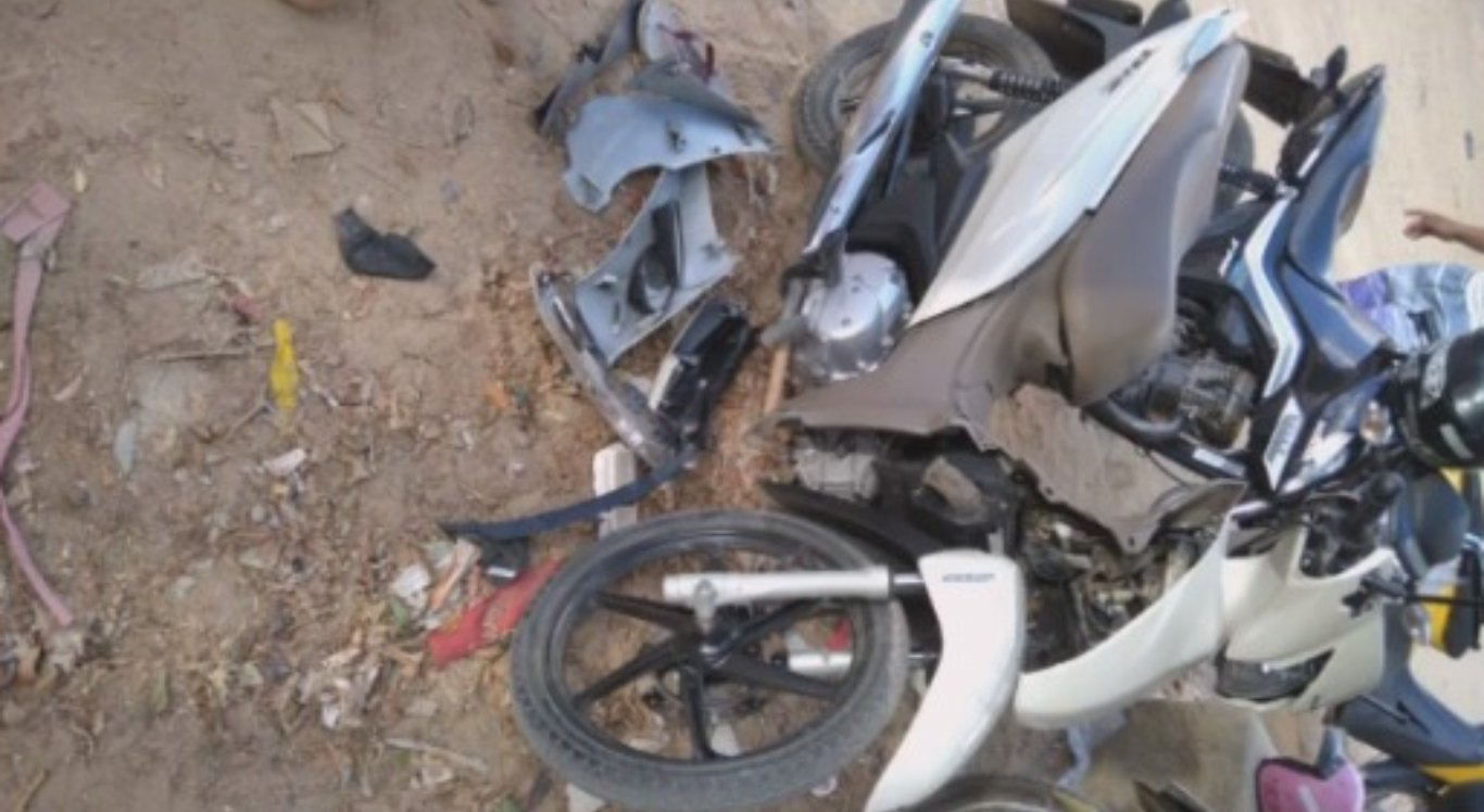 Motociclista ficou ferido