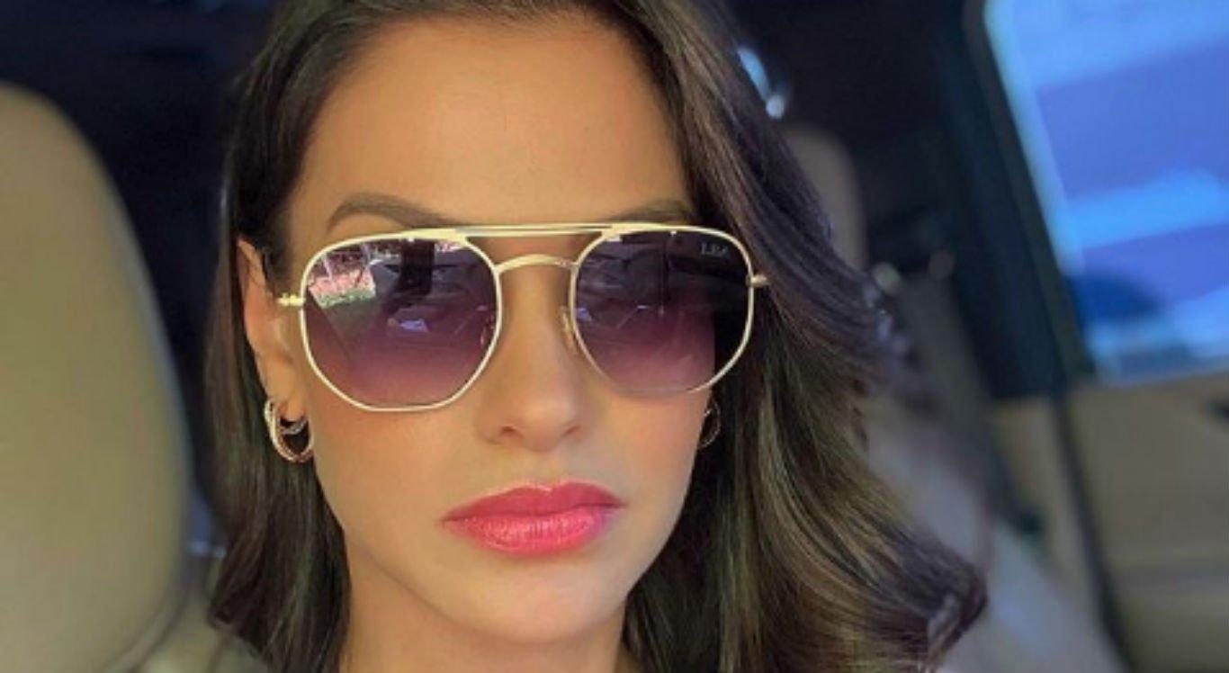 Andressa Suita publicou foto usando óculos escuros e chamou a atenção do Embaixador