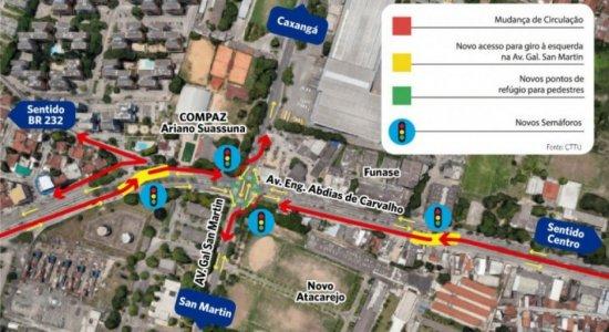 Veja o que muda no trânsito da Zona Oeste do Recife nesta segunda (7)