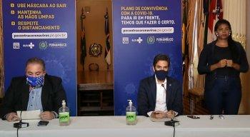 Coletiva online do Governo de Pernambuco nesta segunda-feira (7)