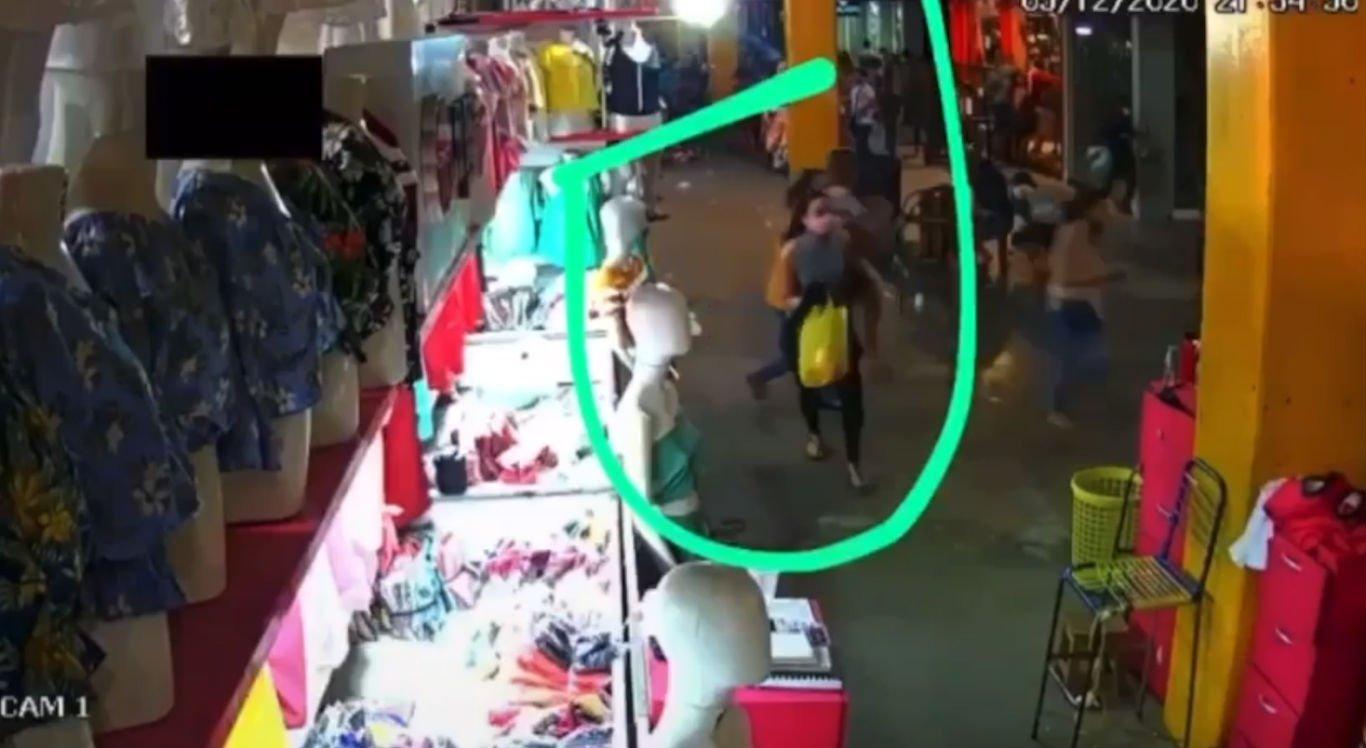 Correria do Moda Center deixou clientes e funcionário assustados