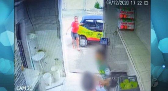 Vídeo mostra assassinato de mulher dentro de supermercado no Recife