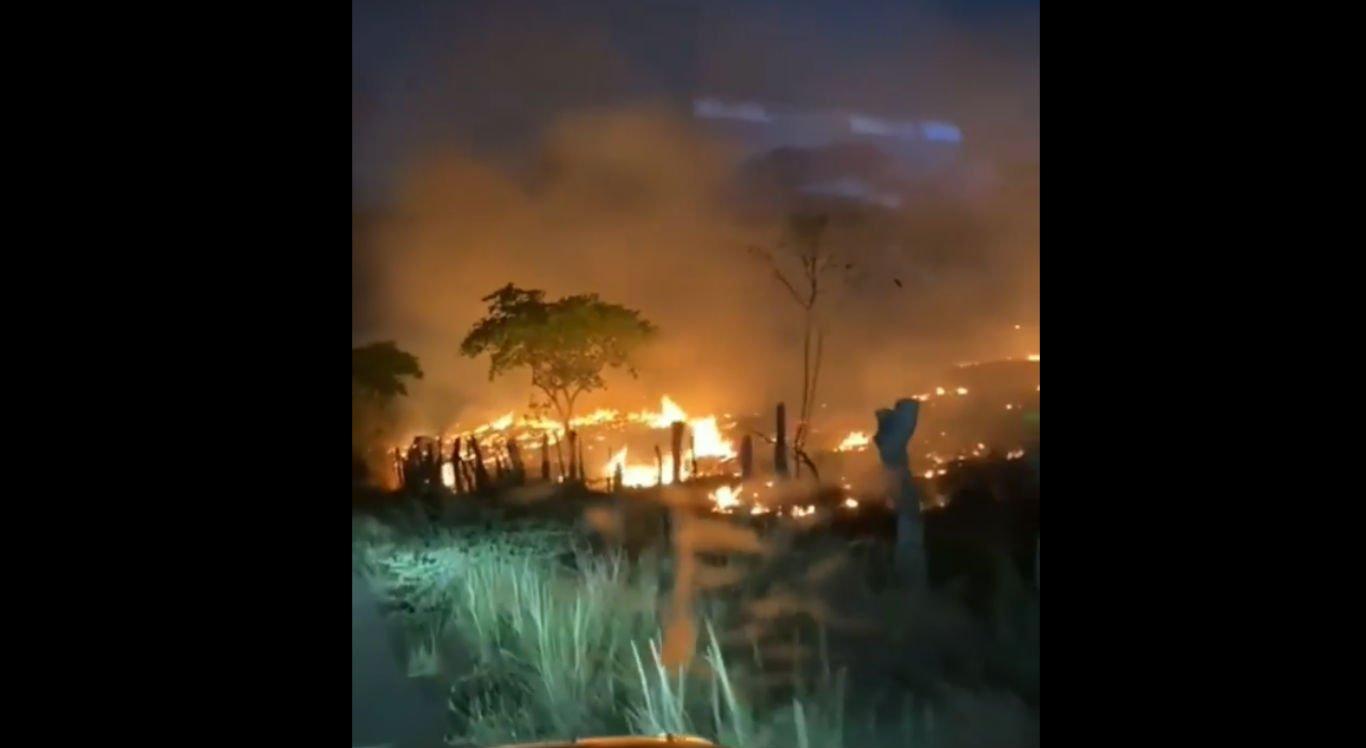 Incêndio em Santa Cruz da Baixa Verde