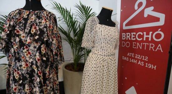 Entra Apulso: Brechó solidário no Shopping Recife tem roupas seminovas
