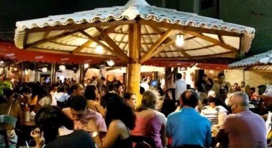 Sem seguir protocolos da covid-19, bar em Olinda é interditado após fiscalização