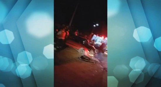 Colisão entre carros deixa 4 pessoas feridas na Ilha de Itamaracá