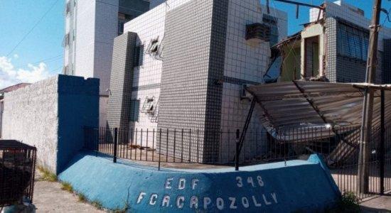 Janga: Defesa Civil faz vistoria em prédio onde aconteceu desabamento
