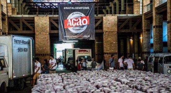 Campanha Natal Sem Fome distribui cestas básicas em Pernambuco; veja como doar