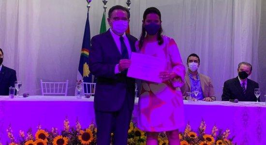 Raquel Lyra é diplomada Prefeita de Caruaru em cerimônia realizada pelo TSE