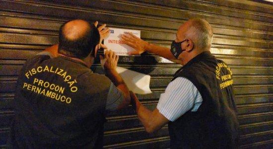 Três bares são interditados pelo Procon-PE durante o fim de semana