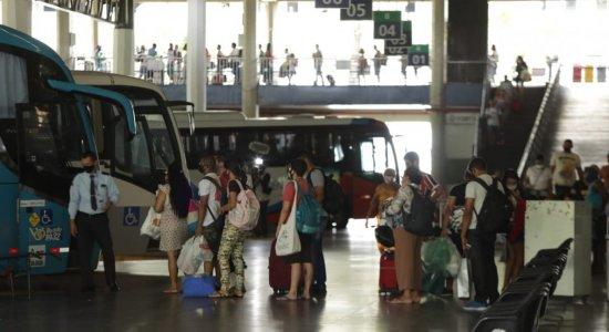 No Terminal Integrado, movimento de passageiros é intenso desde o início da manhã
