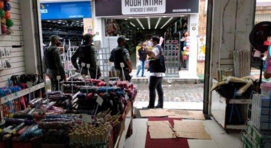 Mercadorias avaliadas em R$ 1,5 milhão são apreendidas em lojas de atacado e varejo na RMR