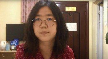 Zhang Zhan foi condenada a quatro anos de prisão por noticiar o coronavírus na China
