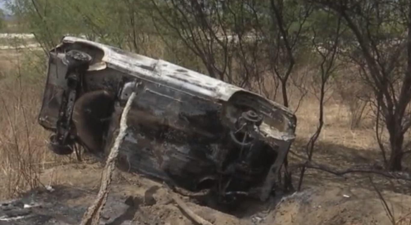 Automóvel, que estava sendo conduzido pela vítima também, foi localizado totalmente destruído