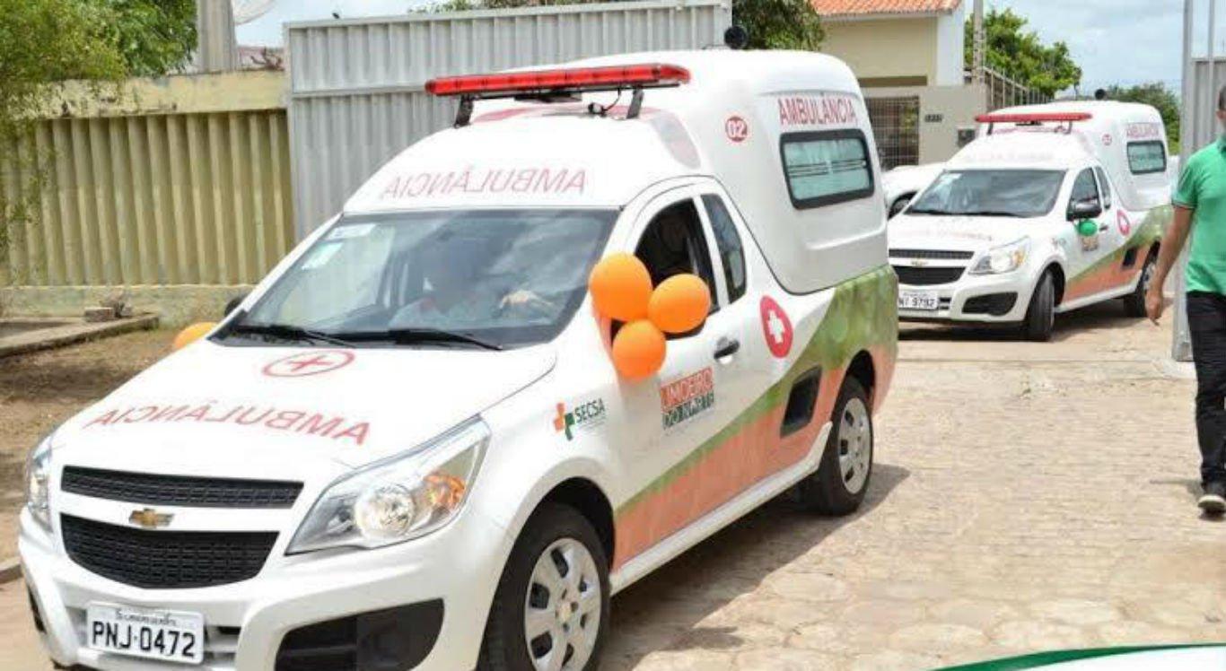 A ambulância foi furtada dentro de um galpão em Limoeiro