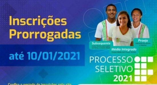 IF Sertão-PE prorroga para o dia 10 de janeiro as inscrições do Processo Seletivo 2021 para cursos técnicos